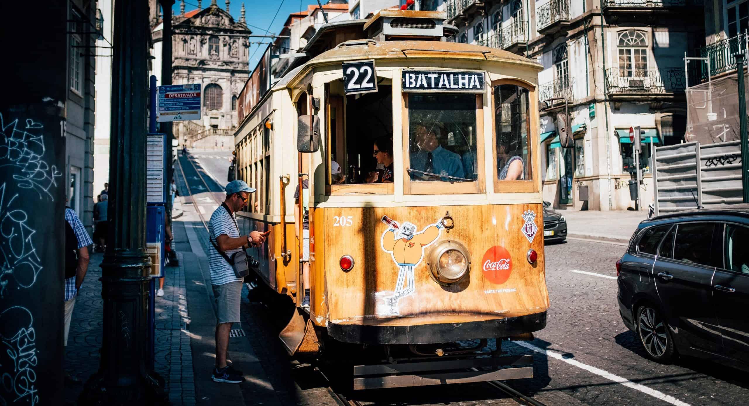 Tram colorati a Porto